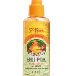 Hei Poa Protection solaire Huile sèche SPF 15-0
